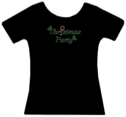 Christmas Party Rhinestone Holiday Shirt