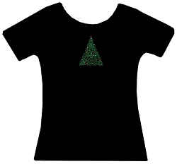 Christmas Tree Rhinestone Christmas Holiday Shirt