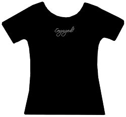 Engaged! Rhinestone Shirt