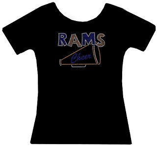 Rams Cheer Rhinestone Shirt